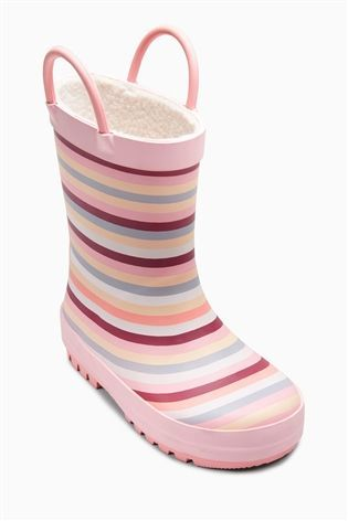 Buy Pink Stripe Wellies (Younger Girls) from the Next UK online shop
