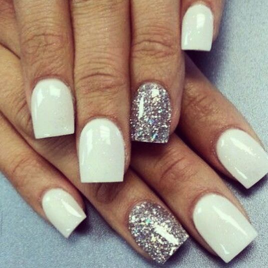 white and silver nails wwwpixsharkcom images