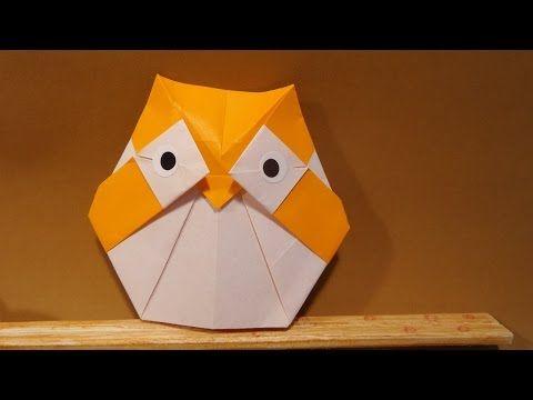 올빼미 색종이 접기 - Origami Confetti owl - YouTube