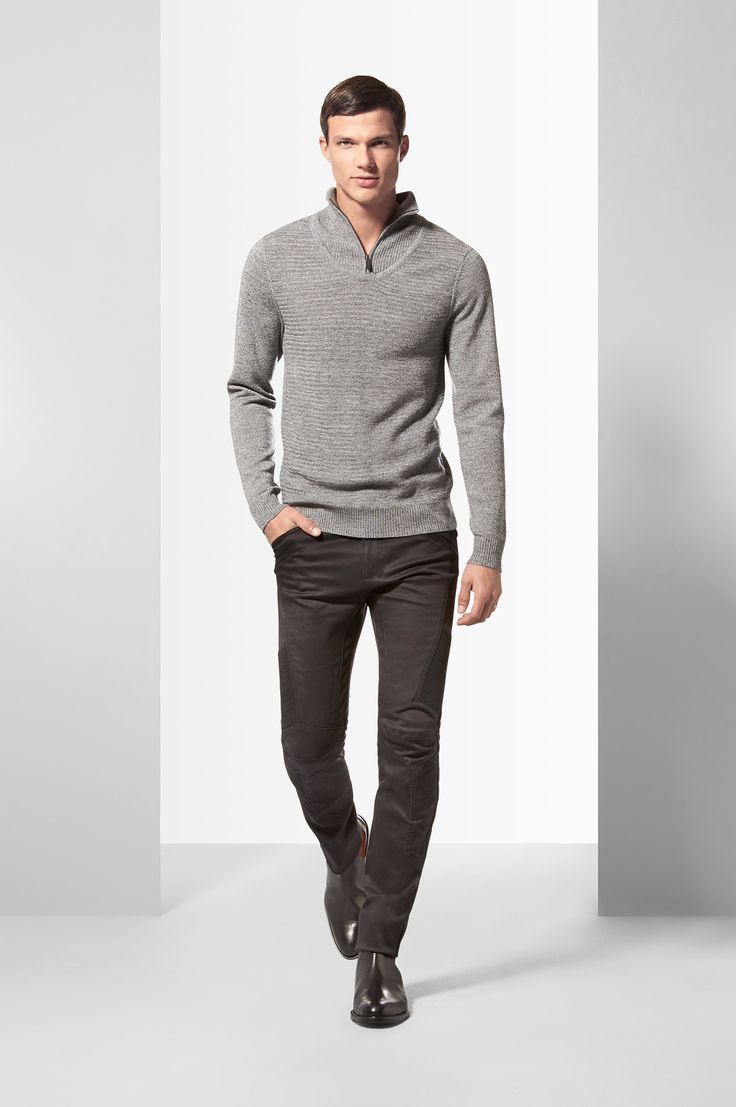 Calibre Winter 2015 - The Half Zip Sweater. Shop new season knitwear at http://www.calibre.com.au/shop/clothing-d1/knitwear-c27