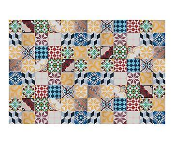 Alfombra vin lica mosaico vintage 200x133 cm mosaicos - Alfombras dibujos geometricos ...