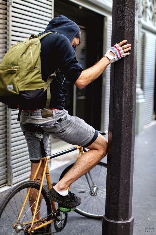 おしゃれな自転車スタイル。