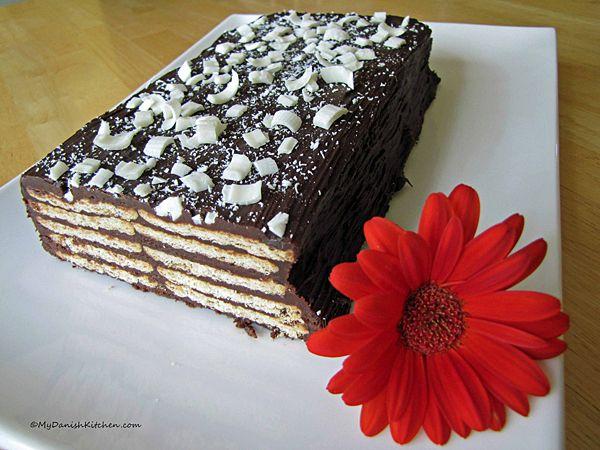 Kiksekage - Danish biscuit cake