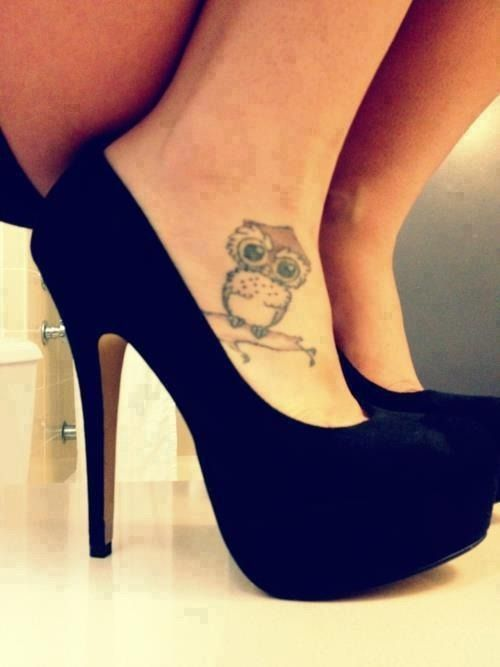 Bird foot tattoos Owl tattoos and Tumblr girls on Pinterest