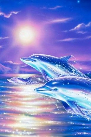 Glitter Dolphin | ... live wallpaper there are sweet dolphins which jump in waves of sea