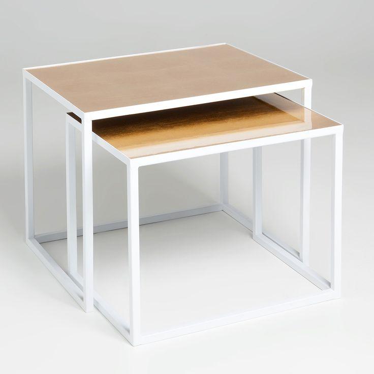 TABLES GIGOGNE DORÉE ET BLANCHE - Tabourets & Meubles d'Appoint - Décoration   Zara Home France