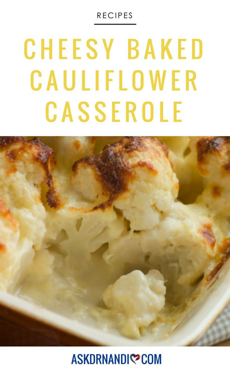 Baked Cauliflower With Cheese Casserole Recipe Baked