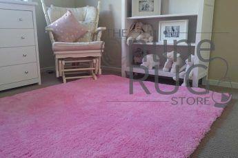 Ava Baby Pink Shaggy Rug