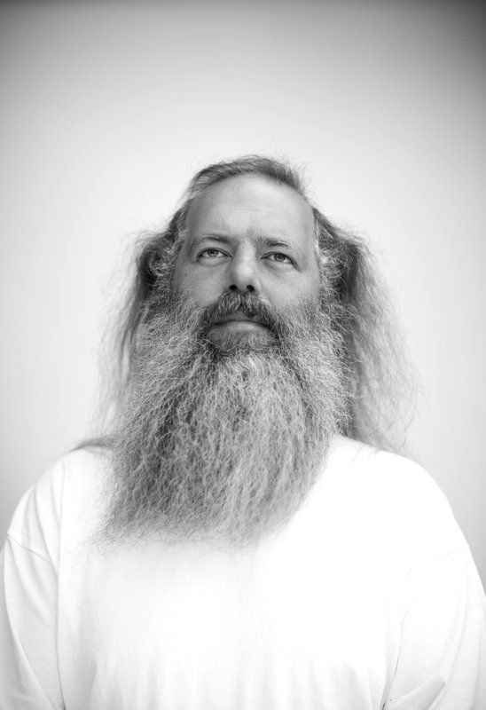 music producer and hip hop mogul Rick Rubin photographed at his home in Malibu, California by Robert Gallagher...looks are deceiving...this man helped produce some of the most classic hip hop tracks ever! artist include run DMC, LL cool J, Jay-Z and others.