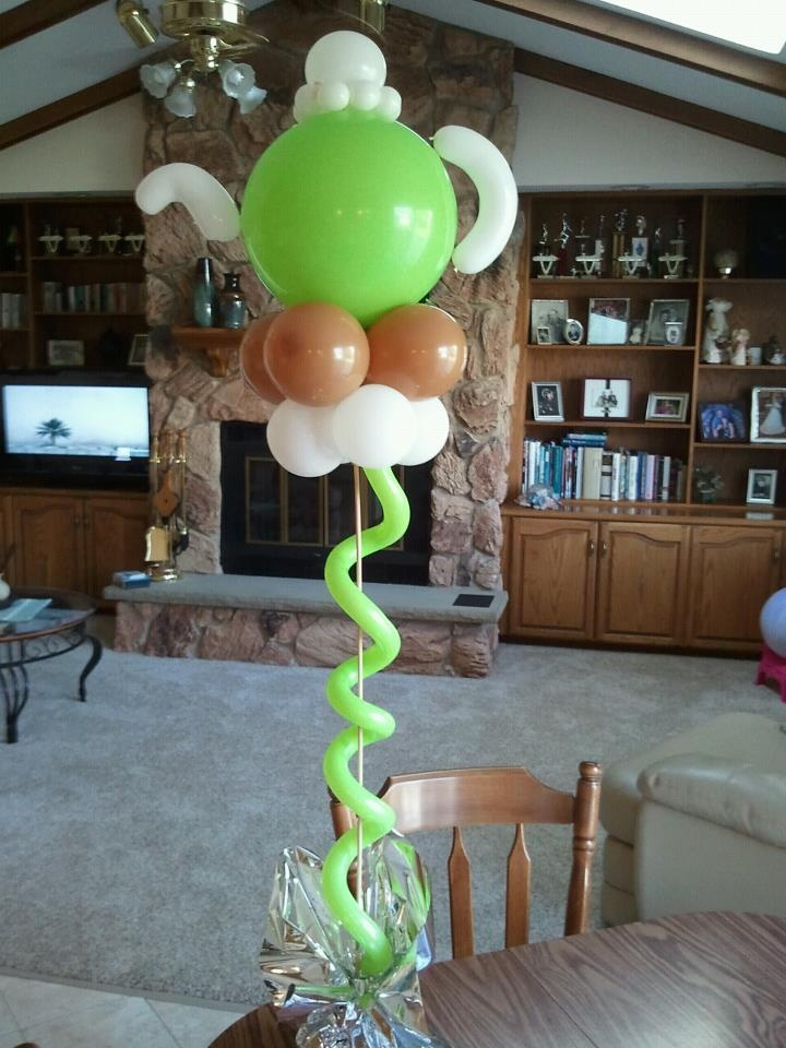 Cute for tea party theme by tommy delorenzo from chicago for Balloon decoration chicago