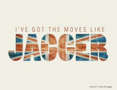 Jennifer McGee | Graphic Design | 365Lyric A DayProject | Day 22 | Maroon5 | Moves Like Jagger