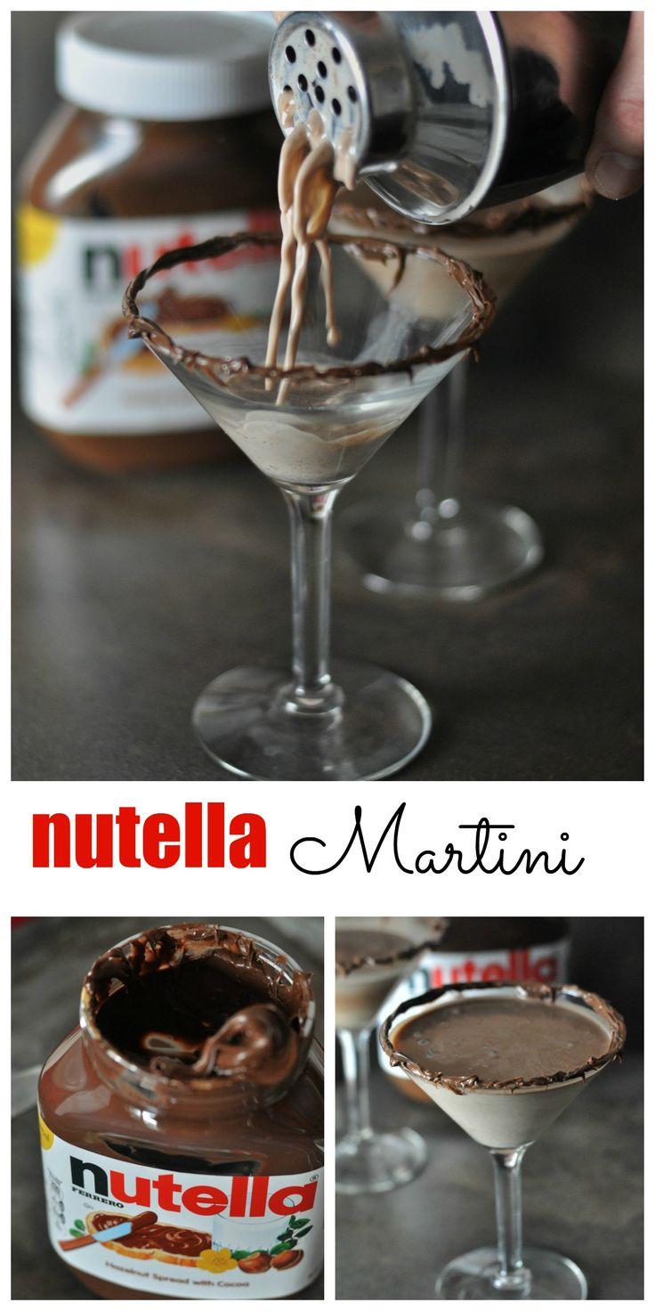 Wow. This is the perfect chocolate martini for your next cocktail party! Just four ingredients to make this easy Nutella Martini cocktail recipe. A super smooth and creamy chocolate martini. Dining with Alice: http://diningwithalice.com/drinks/nutella-martini/