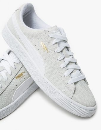 PUMA  Suede Remaster Emboss in White  On sale:   $54.99