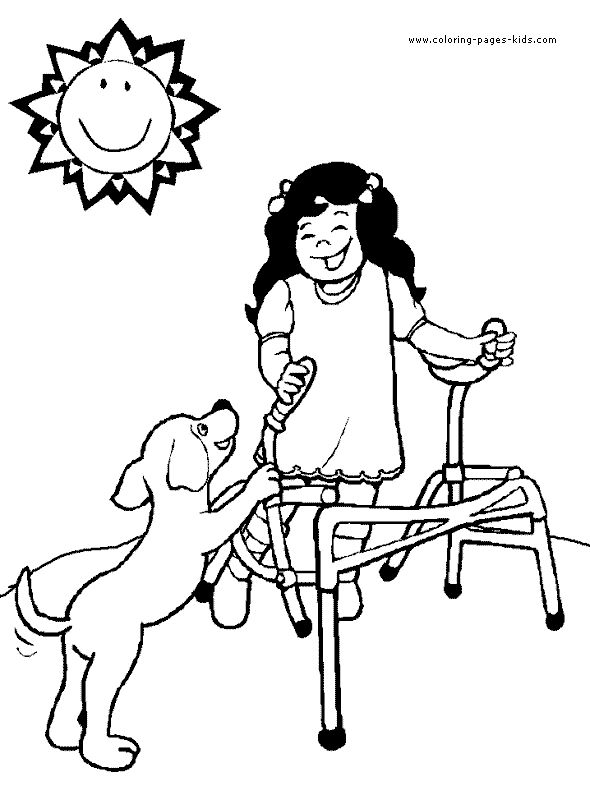 Differently Abled Coloring Pages