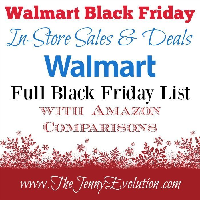 Who's getting excited for Black Friday?!? Today I'm sharing the full Walmart's Black Friday Sales In-Store Deals List to get you ready along with Amazon Price Comparisons for you!