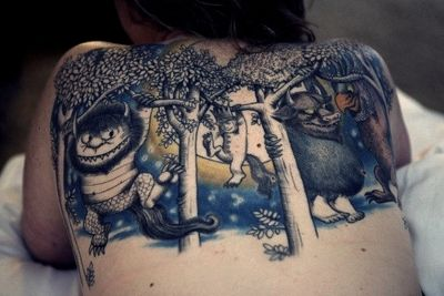 Where the Wild Things Are back tattoo