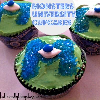 monsters university cakes | Monsters University Cupcake Idea - Kid Friendly Things To Do .com ...