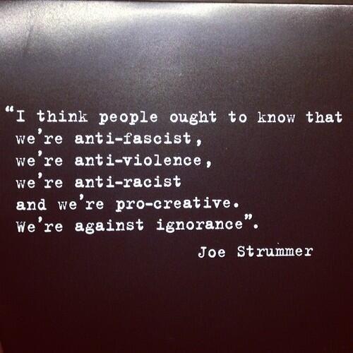 Joe Strummer quote