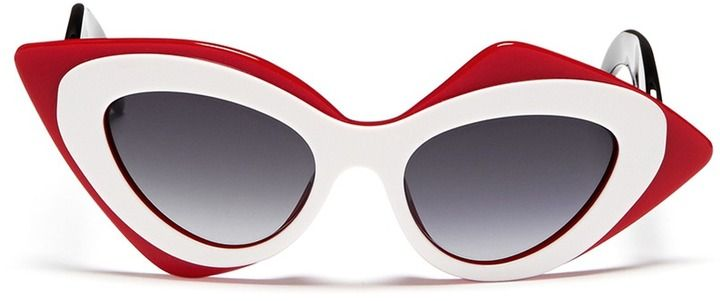 72487 - LINDA FARROW GALLERY x Prabal Gurung sculptural mask layer sunglasses