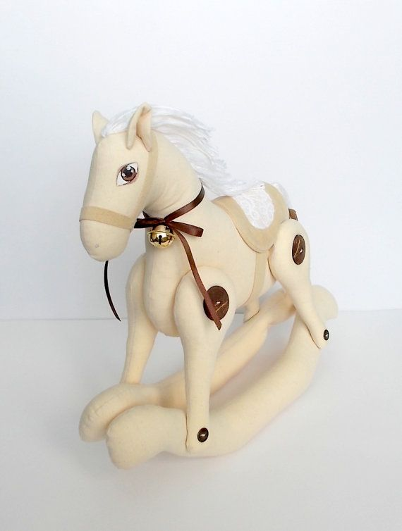 Vintage Rocking Horse home by OldWorldAtelier1974 on Etsy