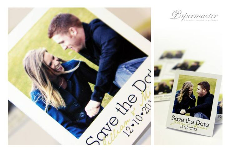 Mini Polaroid with Magnet Back Save the Date