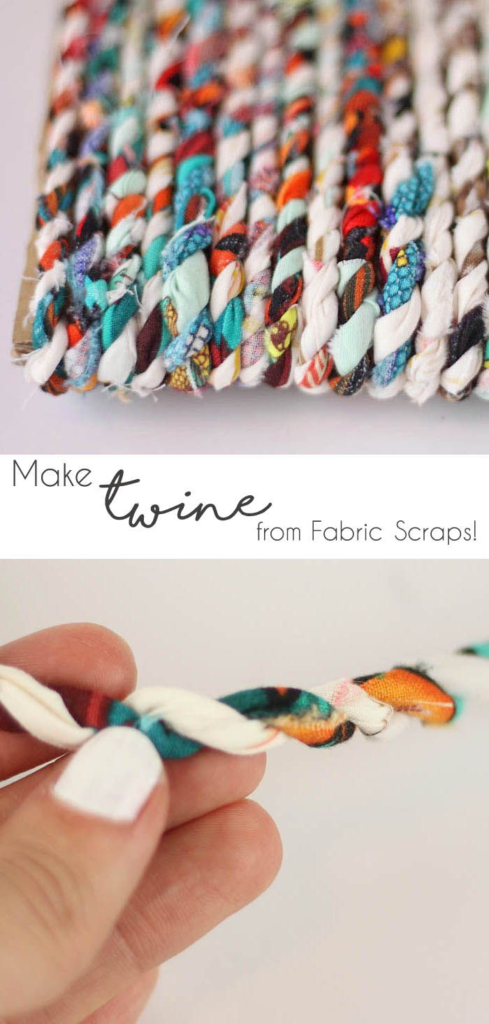 How to make Twine from your old fabric scraps! #stashbusting