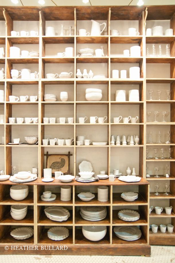 Heather Bullard Blog -  I love the white dishes at the ABC Carpet and Home Store!