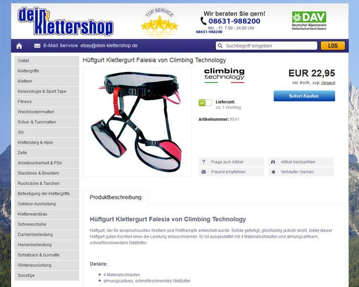 Kunde: Klettern-Outdoor-Dein-Klettershop: Design, eBay Template