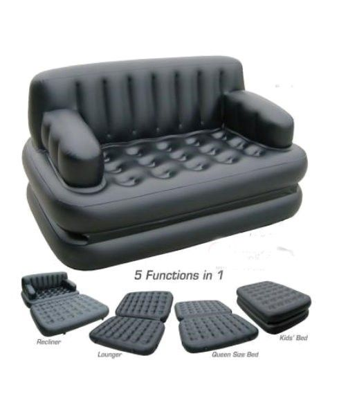 Leather Sofa Inflatable Air lounge sofa cum bed is a Quicker way to arrange a Sofa or Bed