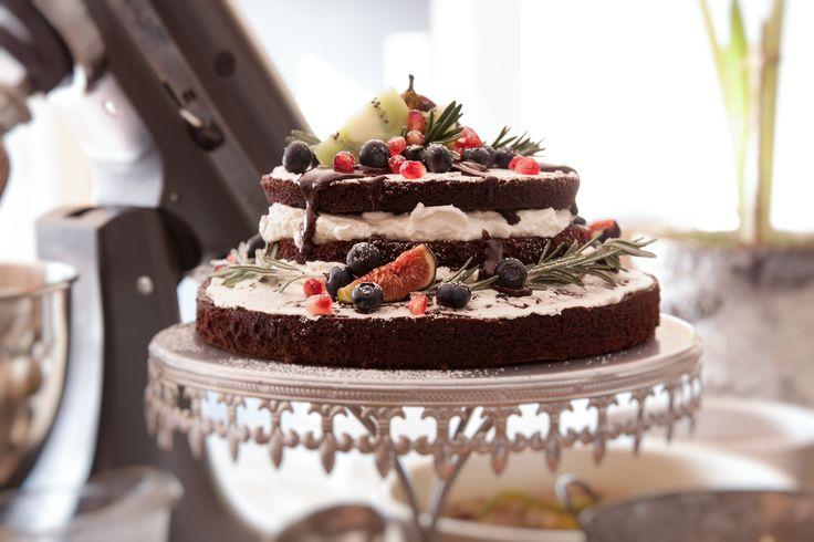Naked Devil's Food Cake