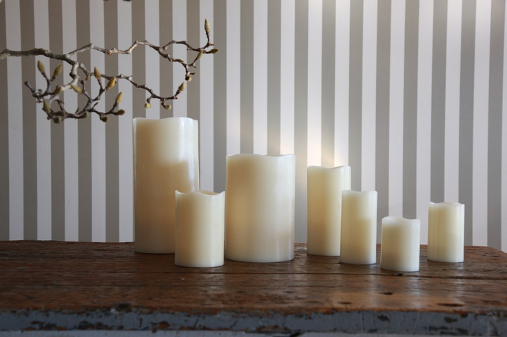 Flameless battery operated candles    www.flamelesscandles.com.au