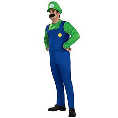 Super Mario Unisex Halloween Costume with Beard (for Height 168-180) – USD $ 16.99