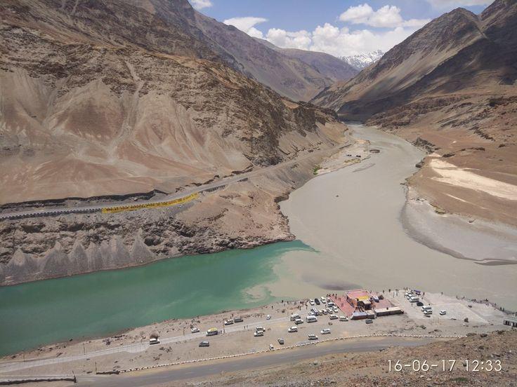 Indus and Zanskar rivers confluence