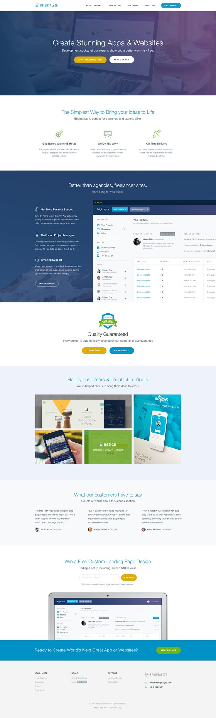 Cool colors web design - Brightalyze Landing Page By Prakash Ghodke Cool Colors Easy To Look At