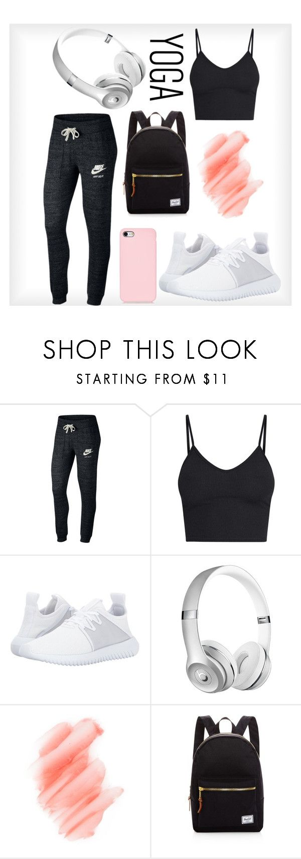 """"""""""" by bertahb ❤ liked on Polyvore featuring NIKE, adidas Originals, Birchrose + Co. and Herschel Supply Co."""