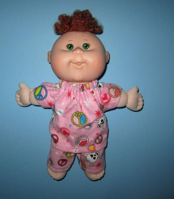 Cabbage Patch Surprise Doll Clothes Pink Skull Cross Bone Etsy Doll Clothes Cabbage Patch Dolls Pink Skull