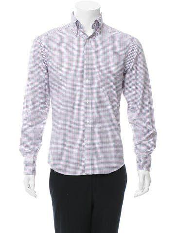 Michael Bastian Windowpane Button-Up Shirt w/ Tags