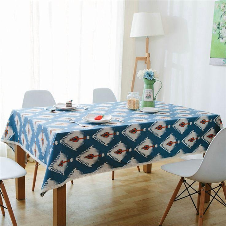 テーブルクロス テーブルカバー 撥水加工 リネン 北欧風 140*200cm 6人掛け用 TC011