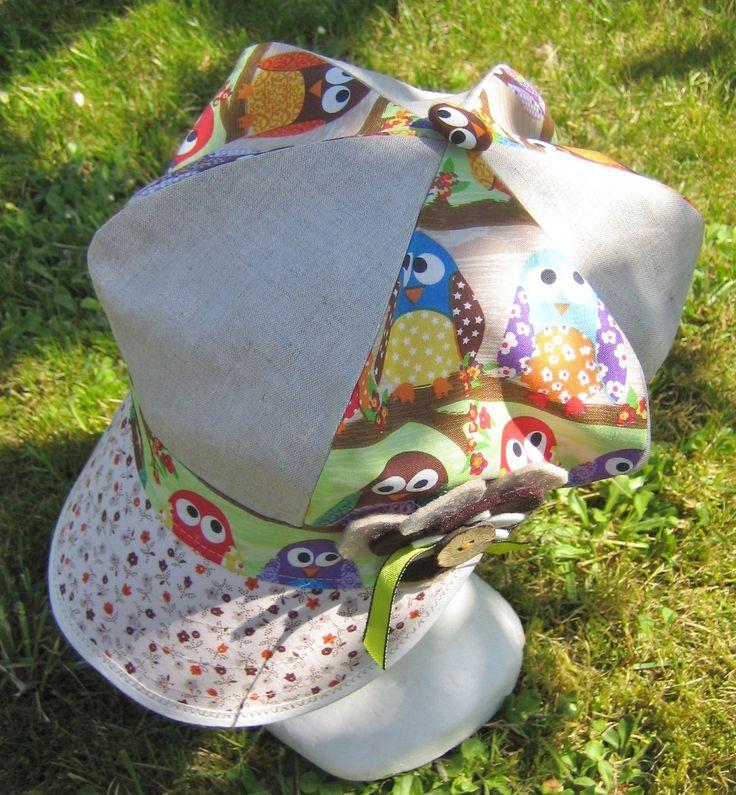 casquette gavroche été gris beige ,orangée : Chapeau, bonnet par margeolu-ellin-s