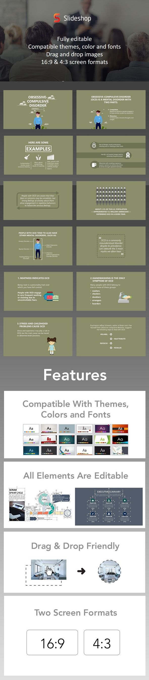 OCD - #PowerPoint Templates #Presentation #Templates Download here: https://graphicriver.net/item/ocd/20164139?ref=alena994
