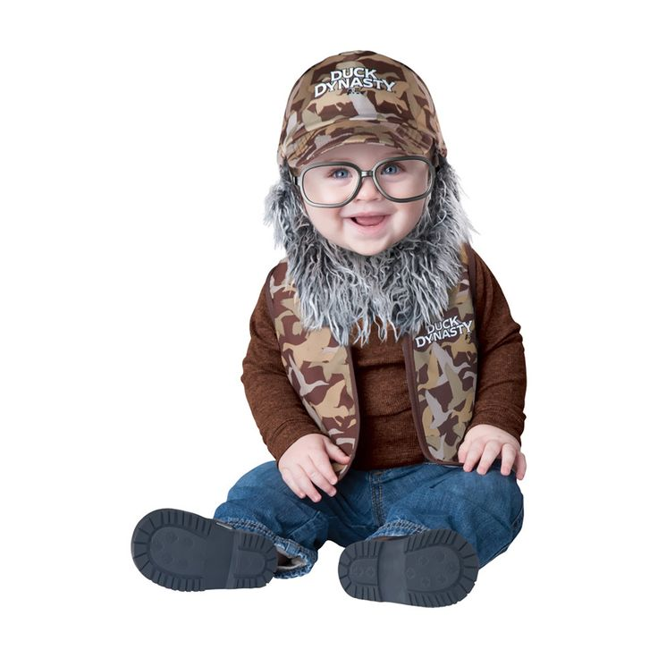 your baby can become one of the stars of duck dynasty in this officially licensed duck dynasty infant uncle si costume - Jase Robertson Halloween Costume