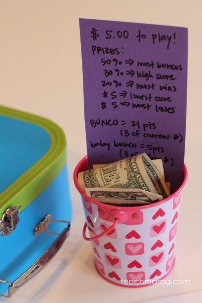 bunco prize pot                                                                                                                                                                                 More