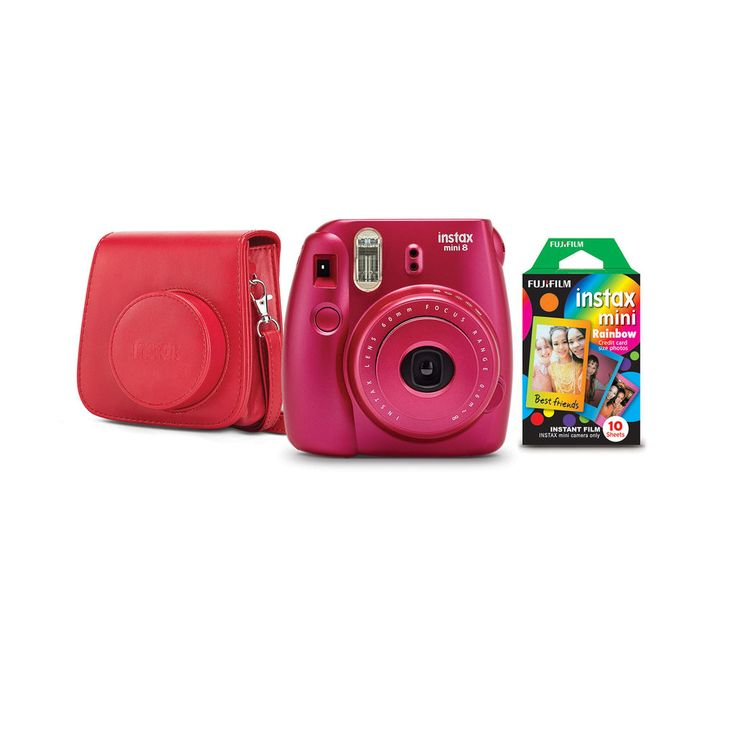 Buy the Fujifilm Instax® Mini 8 Camera Bundle, Pomegranate Red at Michaels.com. Take instant pictures and share them with your friends! This Instax mini camera is all you need to make your parties memorable.