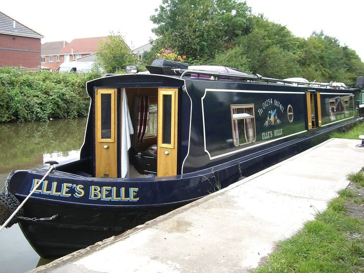 Build our own canal boat paint it navy blue!