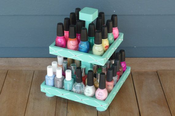 Tiffany Inspired Nail Polish 2 Tier Table Top by NLpalletcreatives,