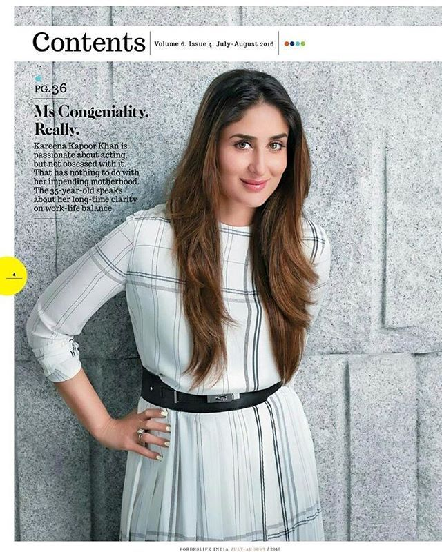 Kareena Kapoor Khan looking cute in her latest shoot for Forbes magazine for which she is the recent cover girl. @INSTANTBOLLYWOOD ❤ ❤ ❤ ❤ . .