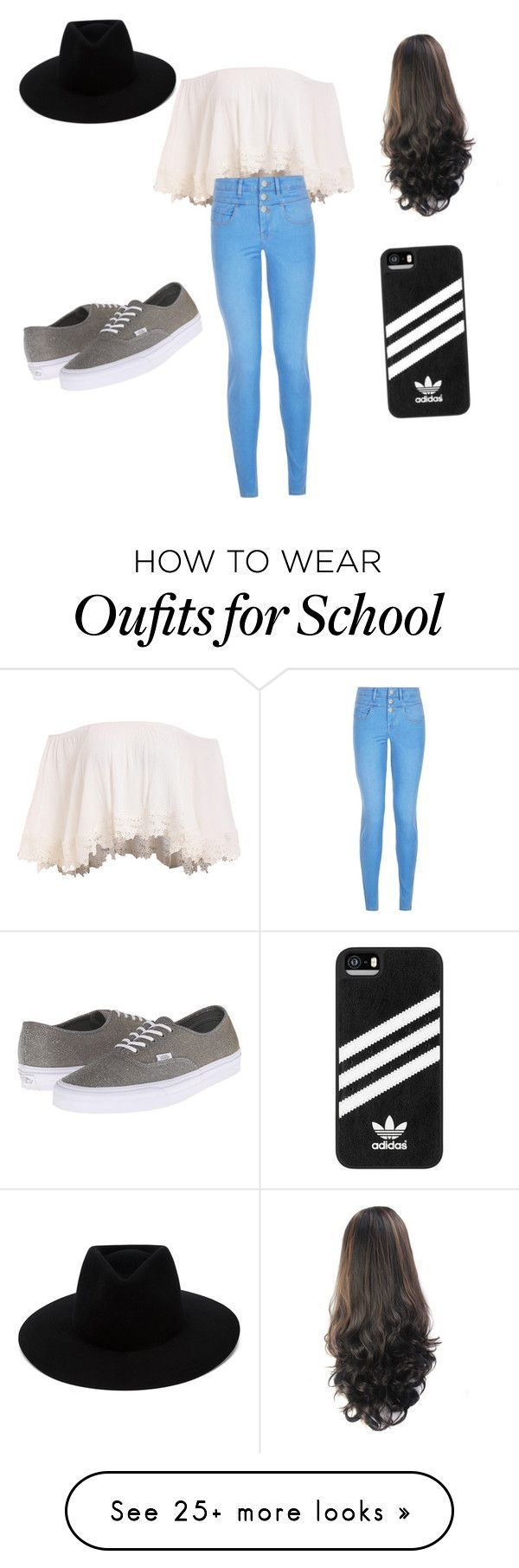 """""""first day of school"""" by arianna2219 on Polyvore featuring New Look, Vans, adidas and rag & bone Nail Design, Nail Art, Nail Salon, Irvine, Newport Beach"""