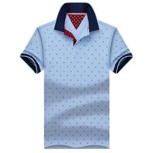 New Brand Polos Mens Printed POLO Shirts 100% Cotton Short                      – Dolphin Buy Now