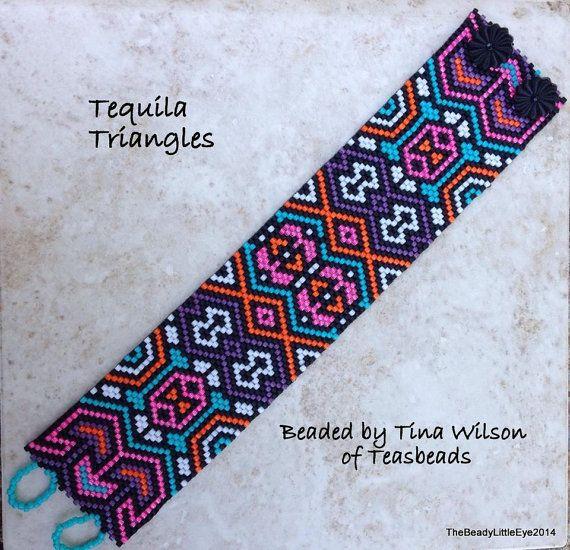 Peyote Patterns, Beading Patterns, Peyote Pattern, Bracelet Tutorial Native…