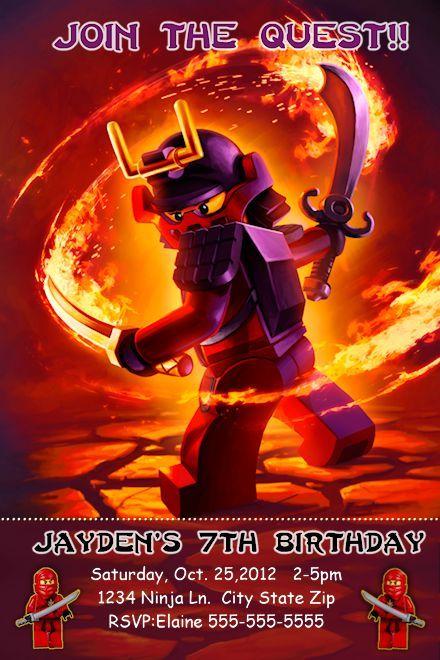 17 best Ninjago Birthday Invitations images – Ninjago Birthday Invitations